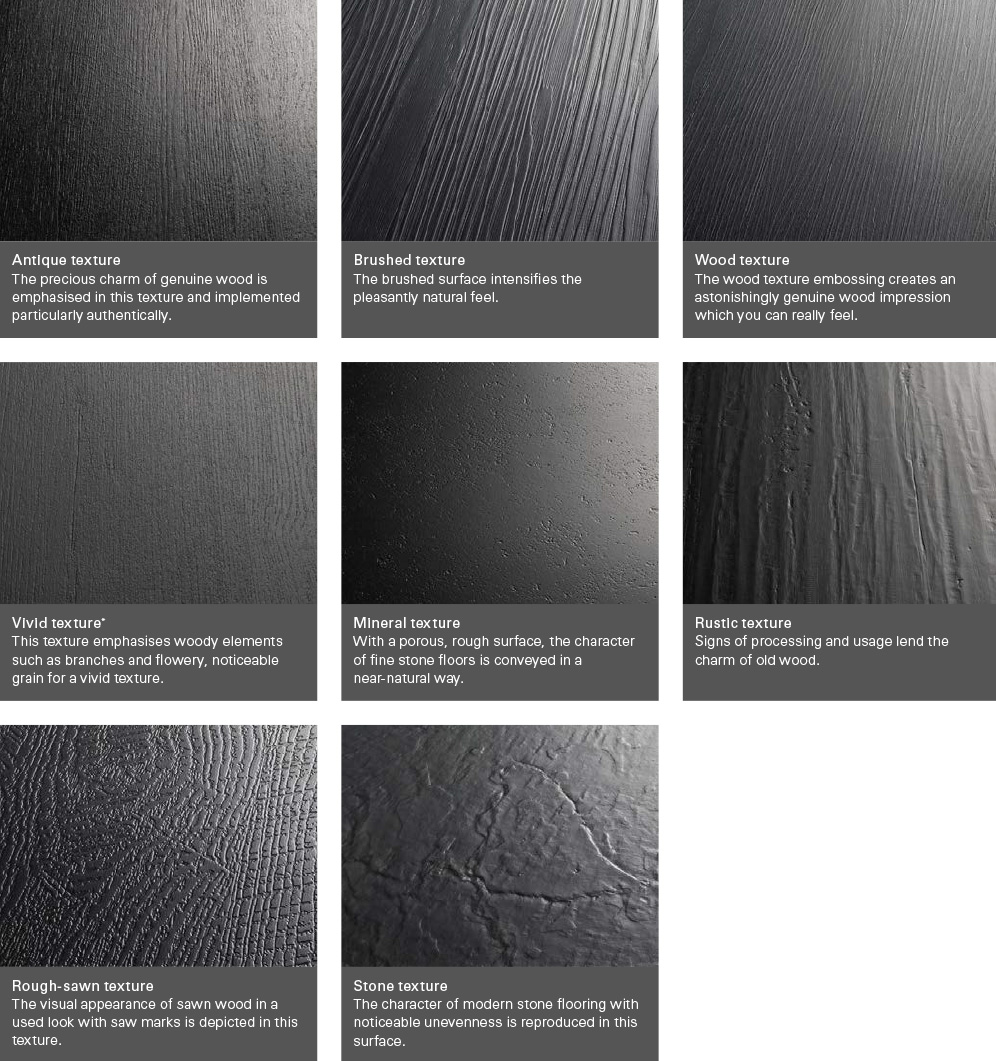 vinyl flooring textures - PARADOR